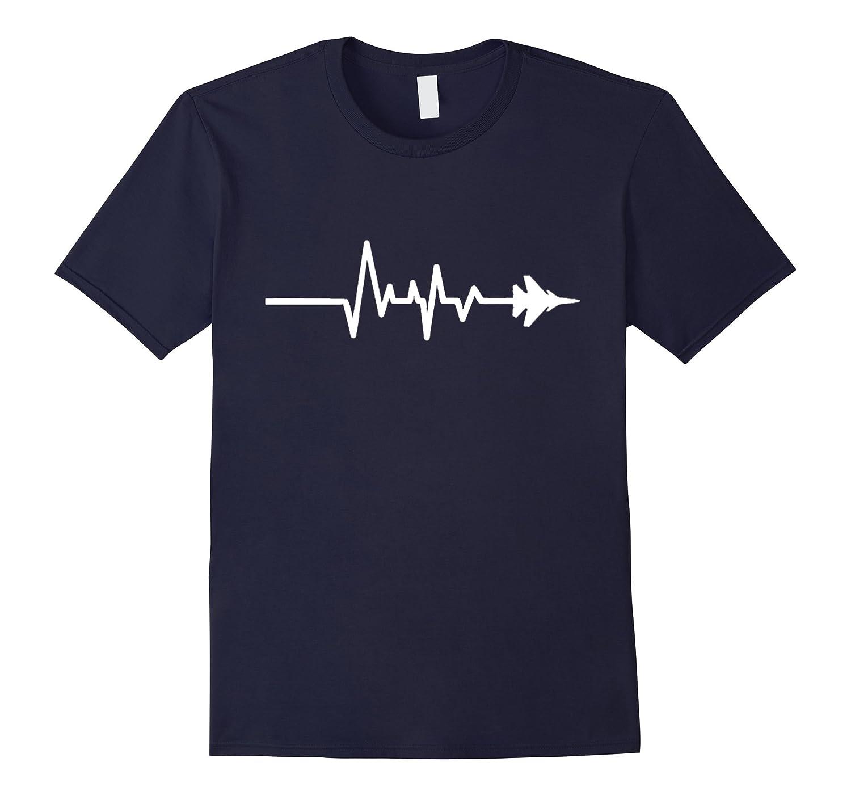 Military Fighter Aircraft Heartbeat T Shirt-Awarplus