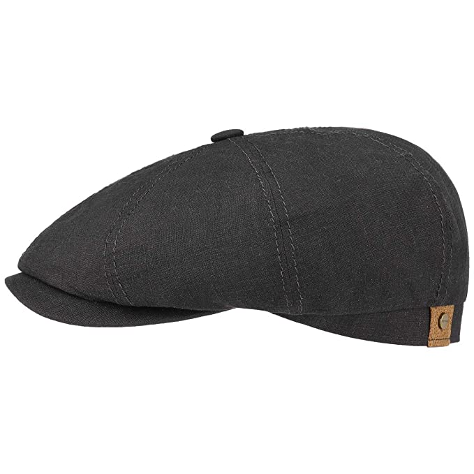 Stetson Hatteras Flatcap de Lino para Mujer/Hombre | con Forro de algodón | Gorra Plana con protección Solar UV 40+| Boina Plana para Primavera/Verano: ...