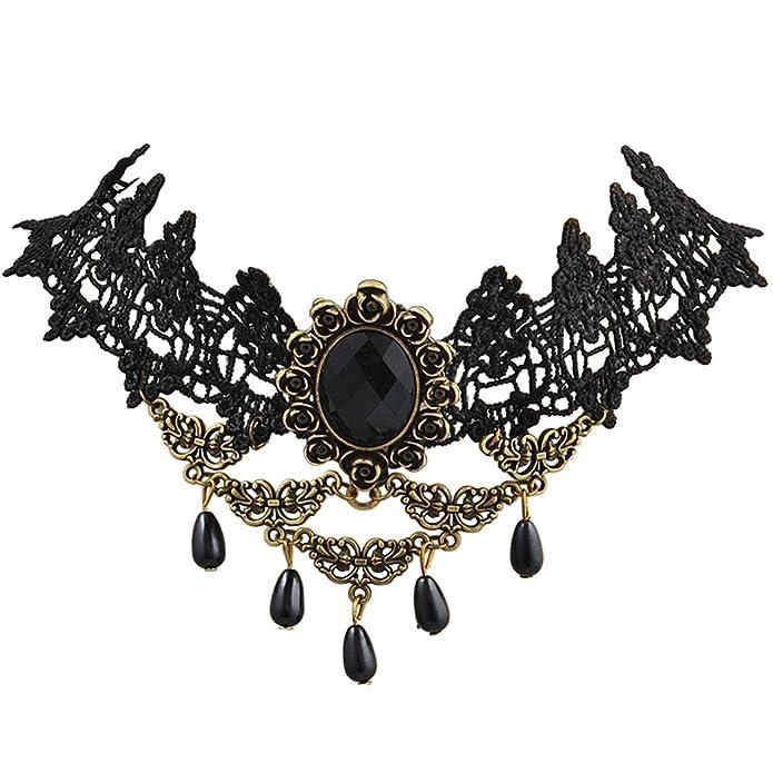 Jane Stone Vintage Encaje Negro Girasol Tatuaje Gótico Collar Con ...