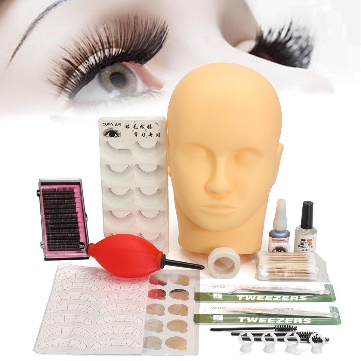 Amazon Mannequin Training Make Up False Eyelashes Extension