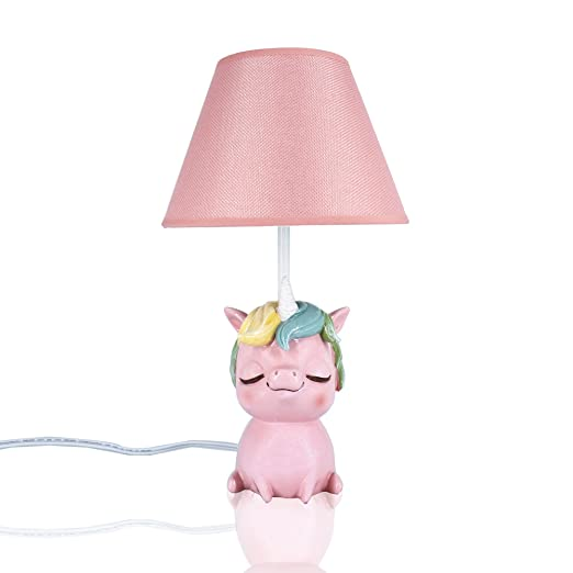Unicorn Table Lamp for Girls Bedroom-Amazlab Bedside Nursery ...