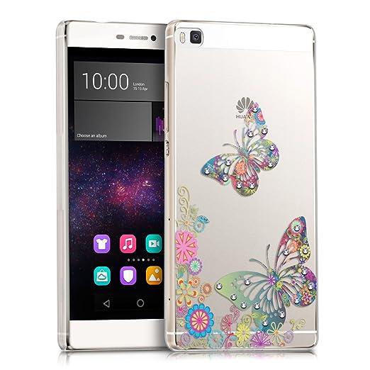4 opinioni per kwmobile Custodia di lusso in strass per Huawei P8 Design stormo di farfalle