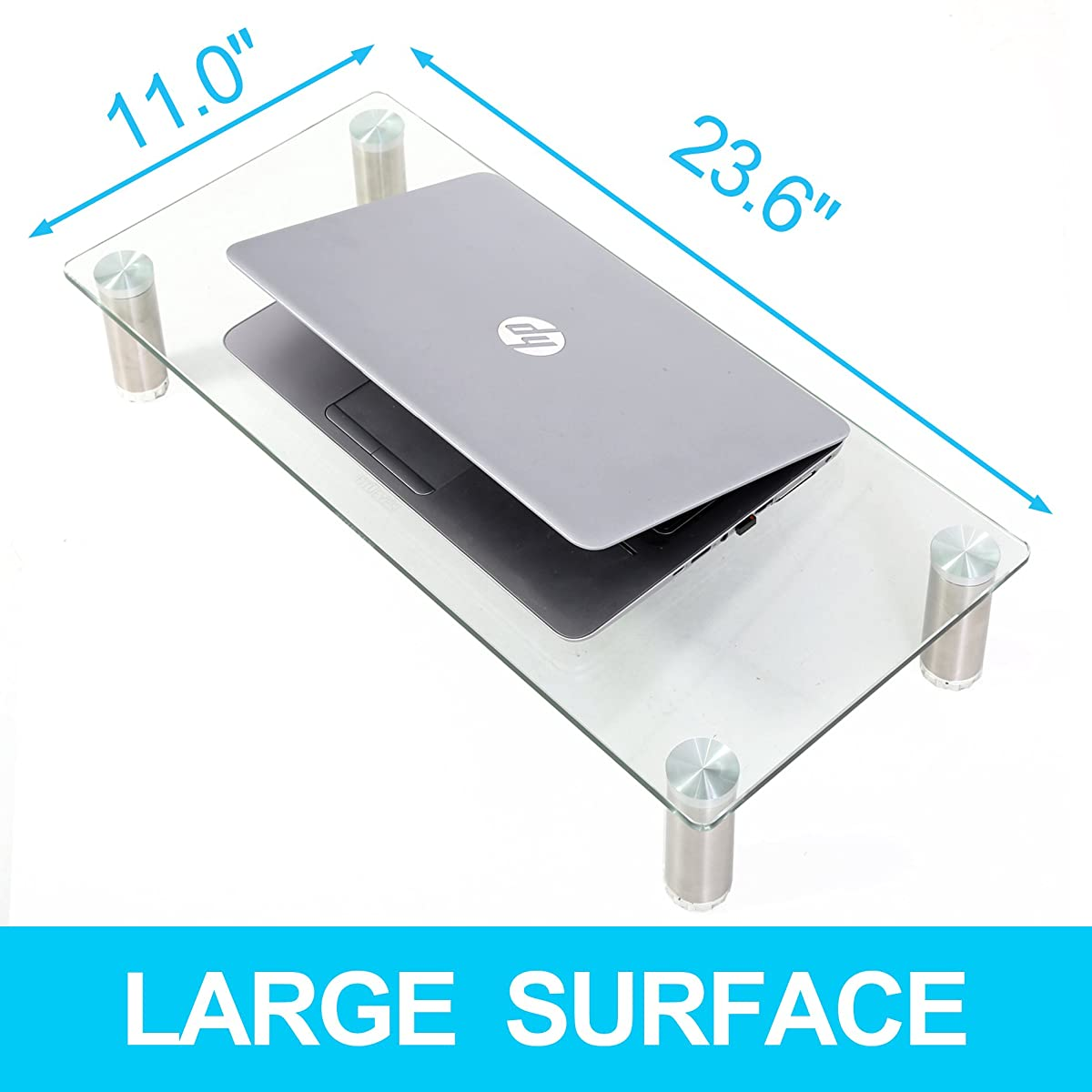 Fitueyes clear Computer Monitor Riser 4.7 High 23.6 Save Space Desktop Stand for Xbox One/component/flat Screen TV