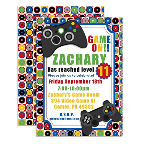 Amazon Game On Video Gamer Themed Custom Personalized