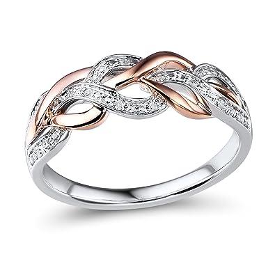 Amazoncom Diamond Wedding Anniversary Band 10k Rose Gold and