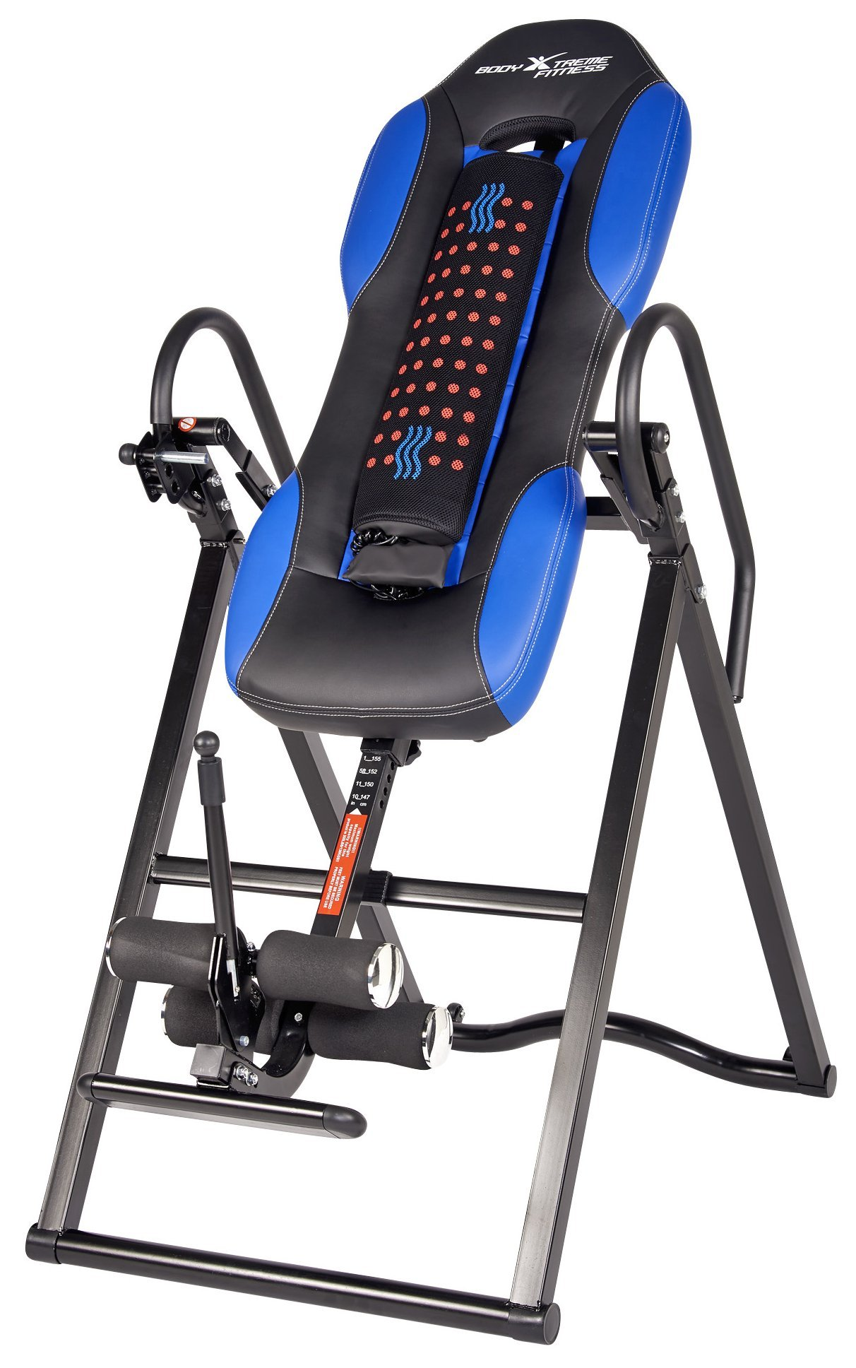 Body Xtreme Fitness ~ Inversion Table, Advanced Heat and Massage Therapeutic Inversion Table, Comfort Foam Backrest, Back Fitness Therapy Relief + BONUS Cooling Towel by Body Xtreme Fitness USA (Image #2)