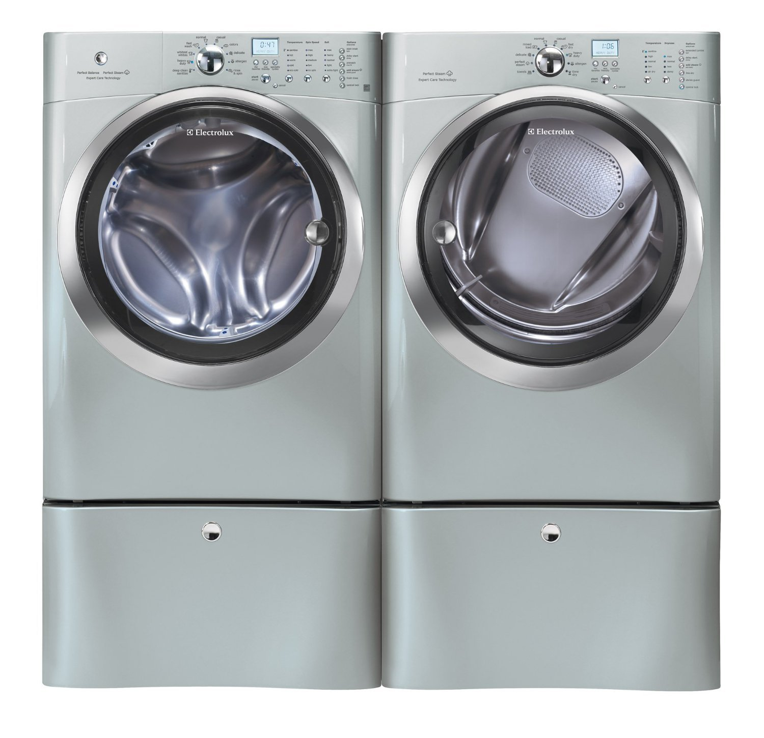 electrolux 24 washer. amazon.com: electrolux silver iq touch front load washer and steam gas dryer laundry set w/ pedestals eifls60lss_eimgd60lss_epwd15ss: appliances 24