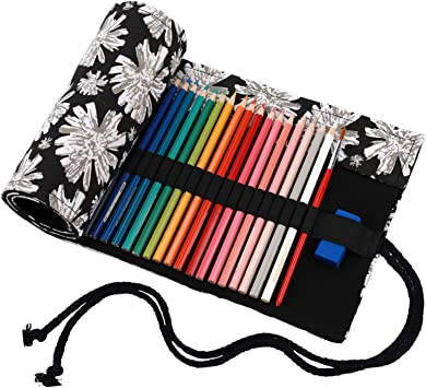 abaría - Estuche Enrollable para 36 Lápices Colores, Bolsa Organizador de Lona para Infantil Adulto (no Tiene lápices): Amazon.es: Electrónica