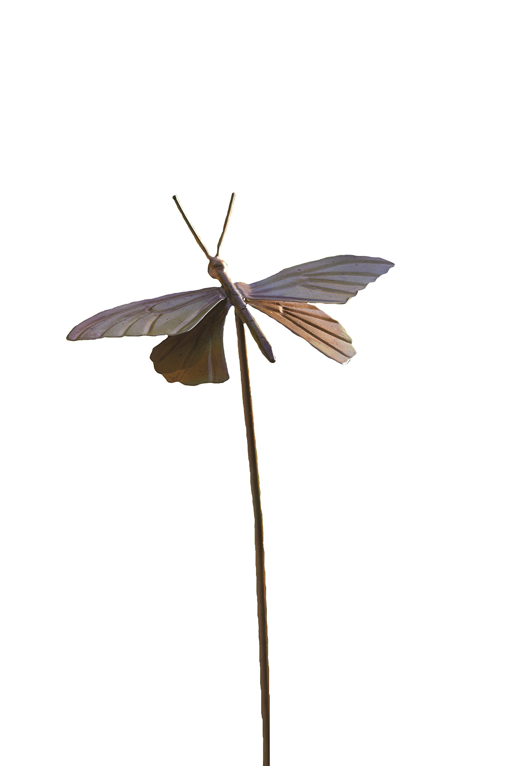 Ancient Graffiti Flamed Butterfly Garden Stake, 6.5 by 4.5 by 29-Inch