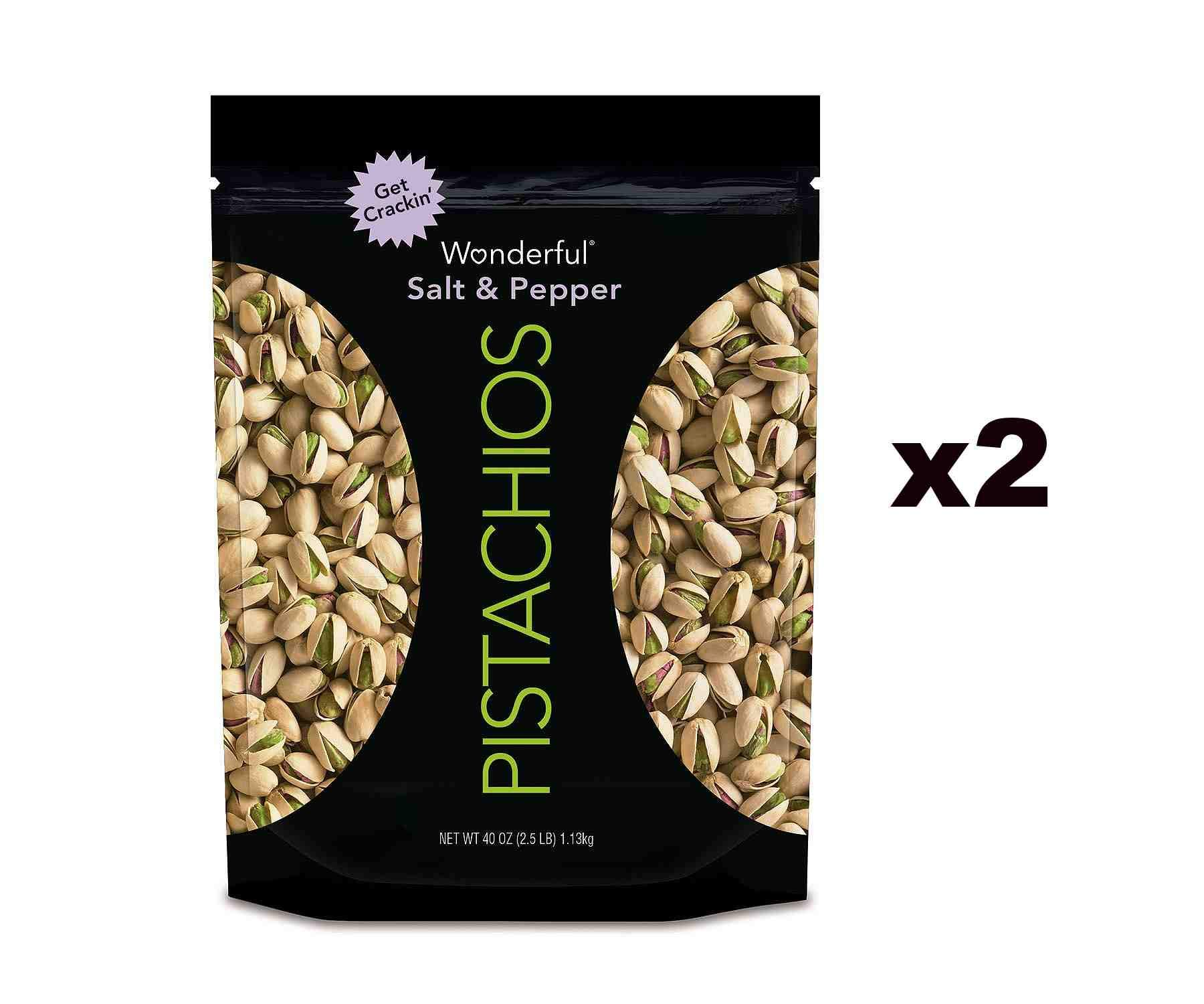 Wonderful Salt and Pepper Pistachios (80 ounces) by Wonderful