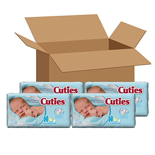 Amazon.com: Cuties Premium Baby Diapers, Size 2, Pack 42: Health & Personal Care
