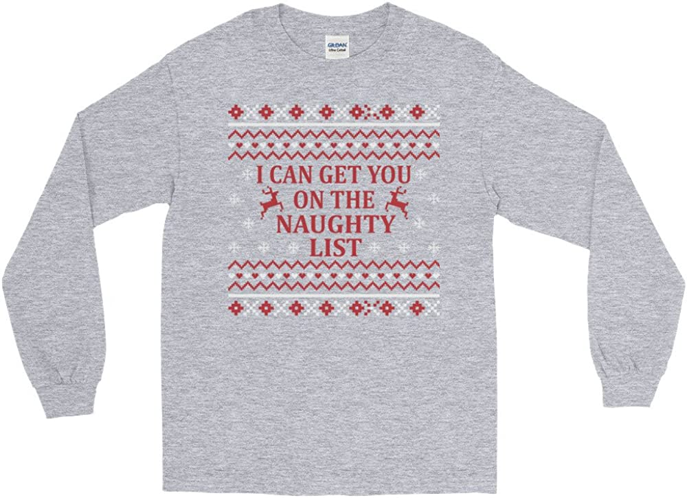 Arkansas Made I Can Get You On The Naughty List Ugly Christmas Sweater Long Sleeve T-Shirt