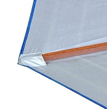 1eb8ac3ca6 Shadezilla 7-8 ft Beach Umbrella | Patio Market Umbrellas UPF100 Wood Grain  Finish Frame, Carry Bag