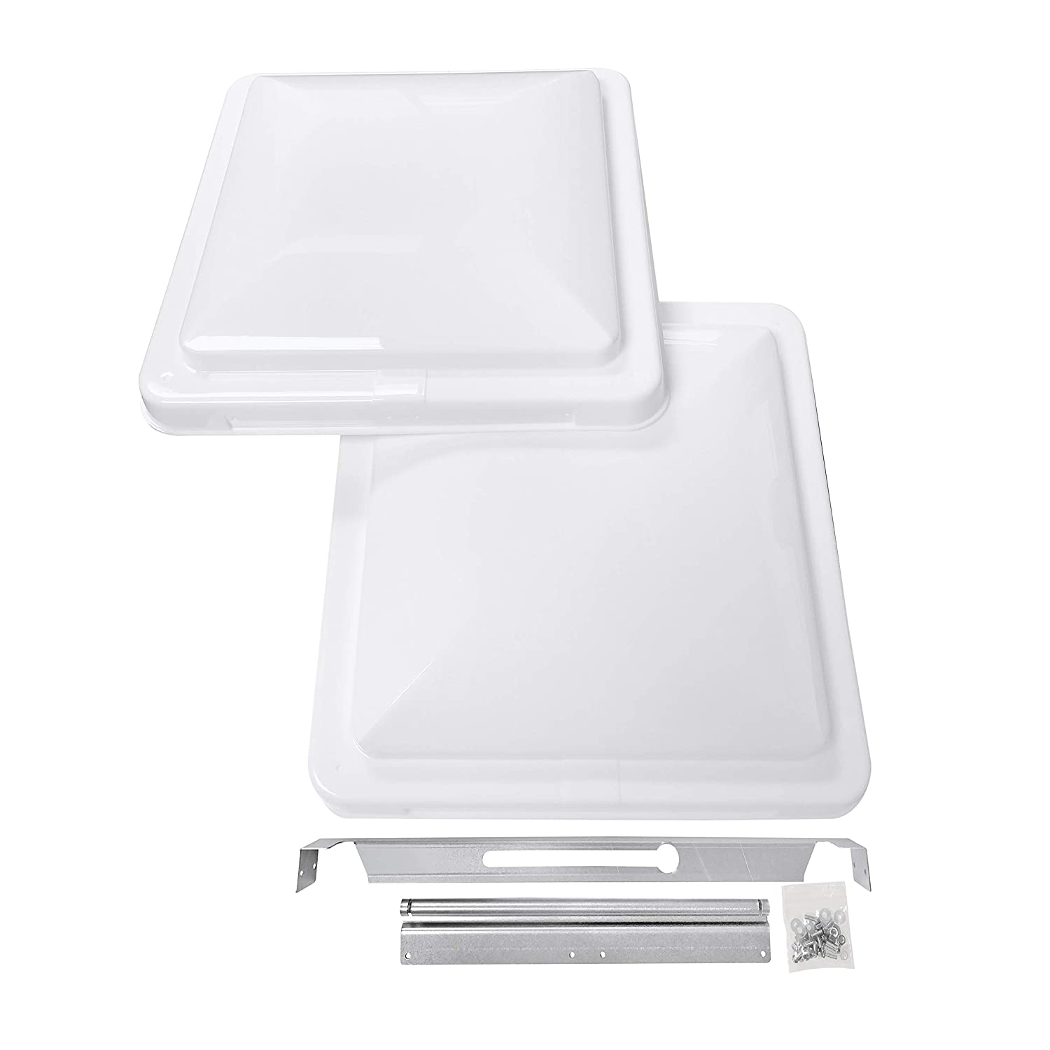 "Camp'N 14"" Universal RV, Trailer, Camper, Motorhome Roof Vent Cover - Vent Lid Replacement (White 2 Pack)"