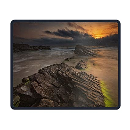 Charmant Beautiful Coastal Scenery Mouse Pad Office Space Decor Home Office Computer  Accessories Mousepads Watercolor Vintage Design