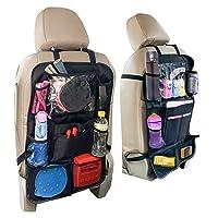 Car Back Seat Organizer and Storage - Passenger Back Seat Organizer - Car Tablet Holder for Kids - Kick Mat Organizer for Kids
