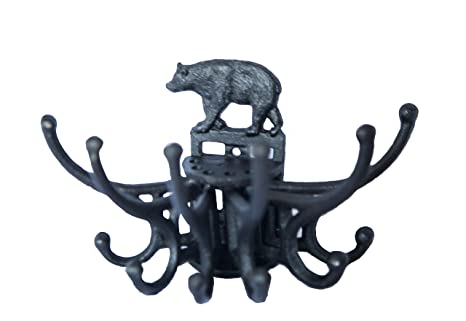 Amazon com: Bear Coat Hanger Wall Hook  Cast Iron Hanging