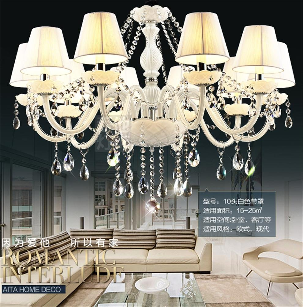 GAO® Chandelier Crystal Led Restaurant Duplex House Club House ...
