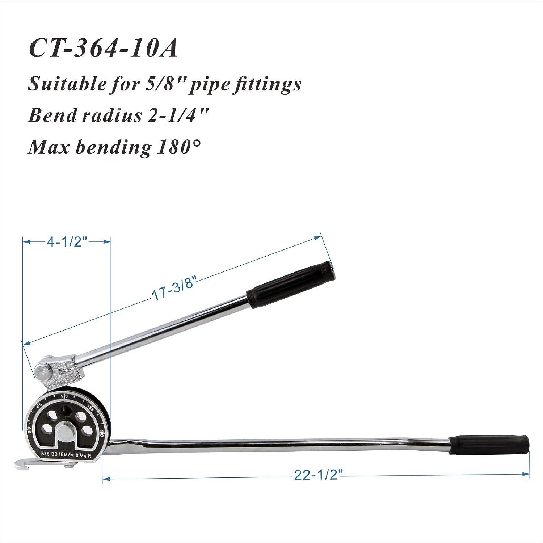 Aluminum & Other Soft Metals IBOSAD Manual Tube Bender Tool 1/2 ...
