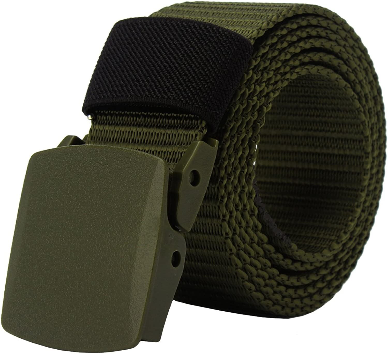 PARVENZA Mens Canvas Nylon Military Tactical Web Duty Belt with No Metal PVZ0612
