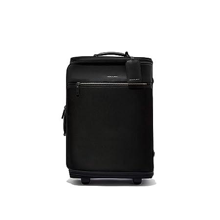Hook /& Albert Black Twill Garment Luggage Rolling Carry-on