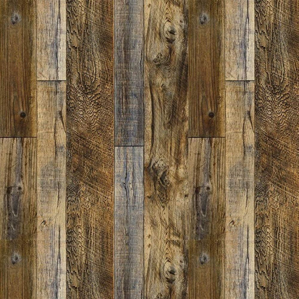 17.7in×393in Wood Wallpaper Self Adhesive and Removable Wall Paper Peel and Stick Wood Panel Home Decorative Wooden Plank
