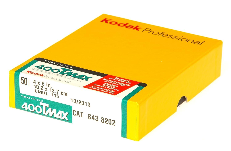 50 Blatt Kodak T-Max 400 10,2 x 12,7 cm 4 Zoll Schwarz-//Wei/ß Negativ-Filme 5 Zoll