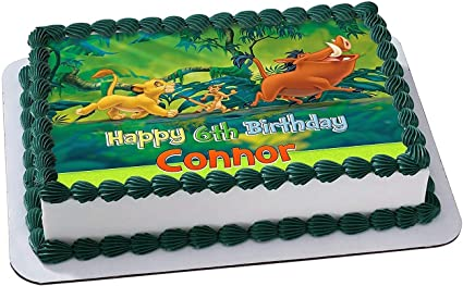 Fabulous Amazon Com The Lion King Simba Timon And Pumbaa Edible Cake Funny Birthday Cards Online Barepcheapnameinfo