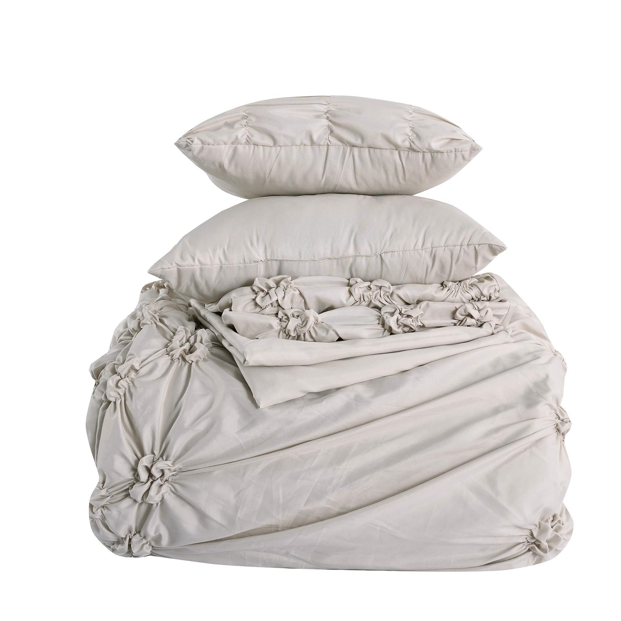 Amrapur Overseas 8-Piece Sophie Comforter Set, King/California King, Sand by Amrapur Overseas (Image #3)