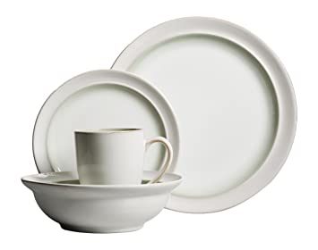 Gibson Elite 16 Piece Lawson Dinnerware Set White/Green  sc 1 st  Amazon.com : green and white dinnerware - pezcame.com