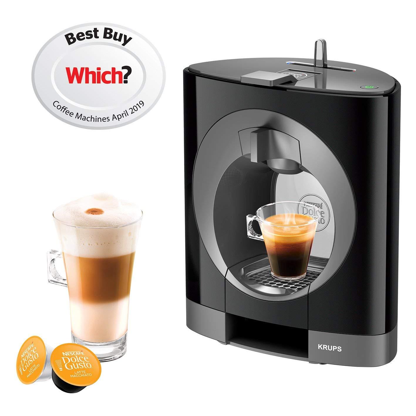 NESCAFE Dolce Gusto Oblo Coffee Machine by Krups - Black by Krups B00MHKYRXM