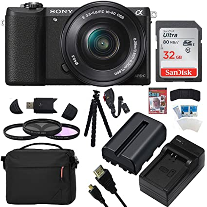 Sony Alpha A5100 243MP HD 1080p Mirrorless Digital Camera With 16 50mm Lens