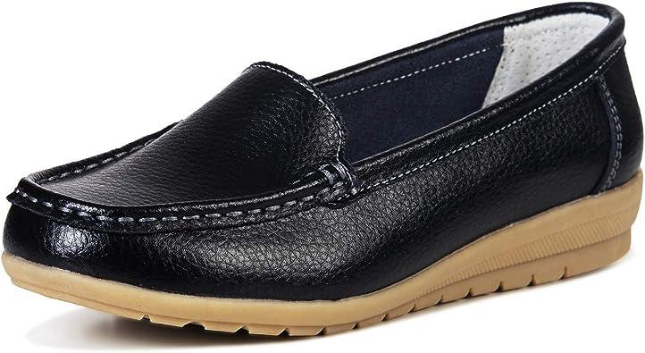 LUOBANIU Women Loafers Moccasins Slip