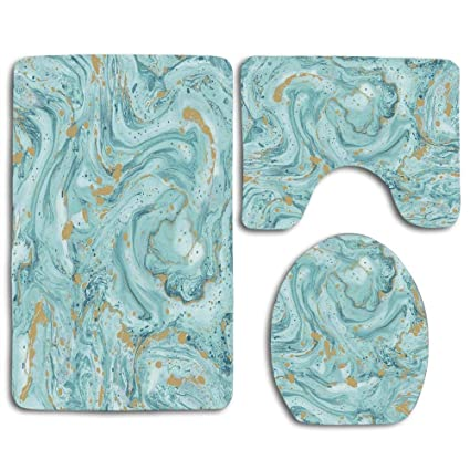 Amazon com: EnmindonglJHO Azurite Teal and Foil Gold Oil