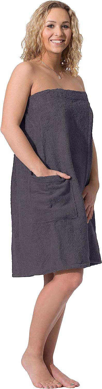 ZOLLNER Toalla Sauna para Mujer, marrón, algodón, L-XL, Otras Tallas y Colores