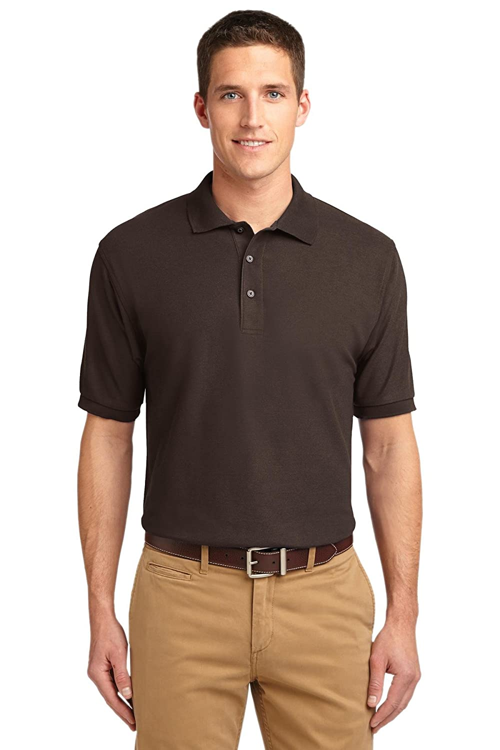 Port Authority Mens Big and Tall Silk Touch Polo Shirt