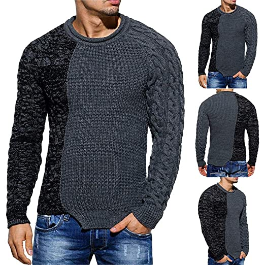 c74dde9a616 OSTELY Mens Tops Casual Long Sleeve, Fashion Spring Autumn Pullover ...
