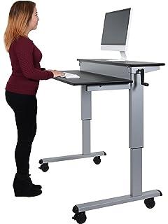 Amazoncom LUXOR StandupCF48DW Stand Up Desk Crank Adjustable