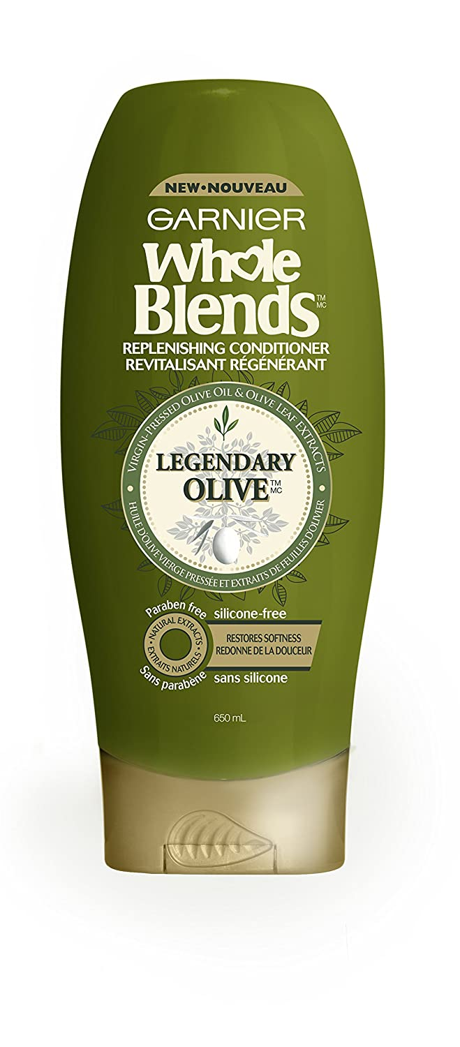 Garnier Whole Blends Replenishing Conditioner Legendary Olive, Dry Hair, 22 fl. oz.