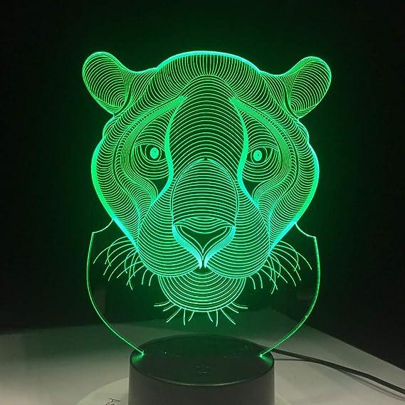 BFMBCHDJ Luces LED de vacaciones Novedad Tigre con forma de león ...
