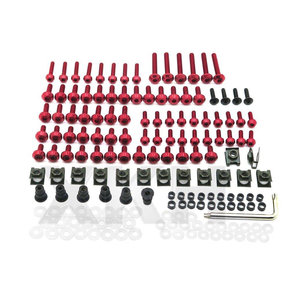 XKH Group Fairing Fasteners Complete Bolt Kit Black Screws for HONDA 2001-2007 CBR 600F4i