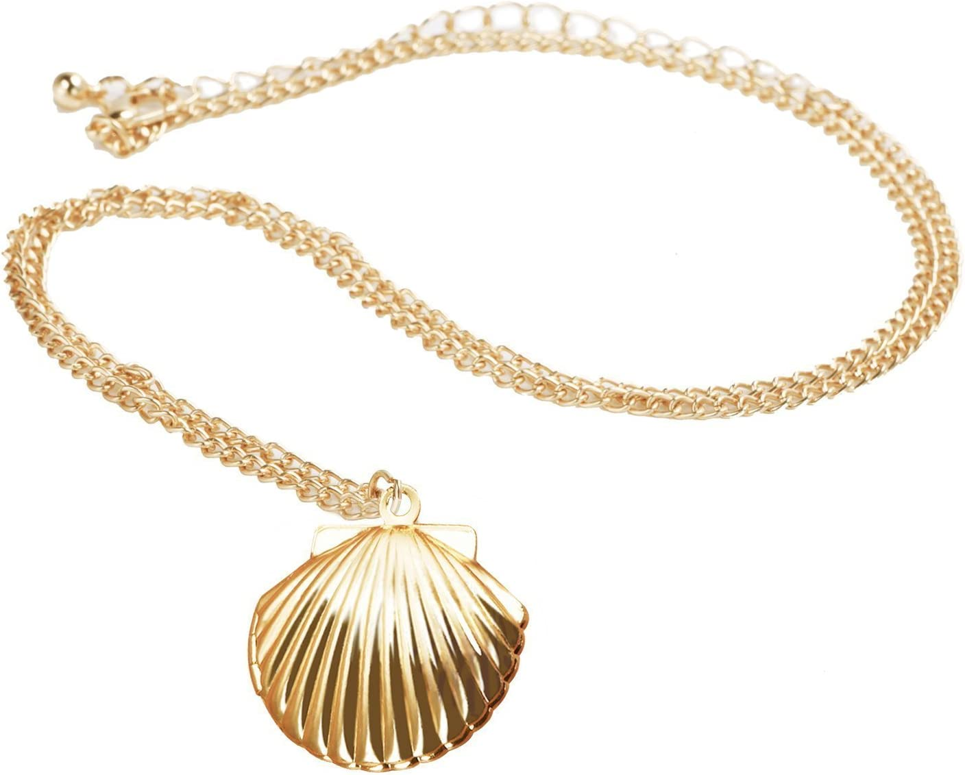 Nautical Jewelry For Women Party Favor Beach Locket Girls LOSOUL Mermaid Valentine Necklace Gold Tone Brass