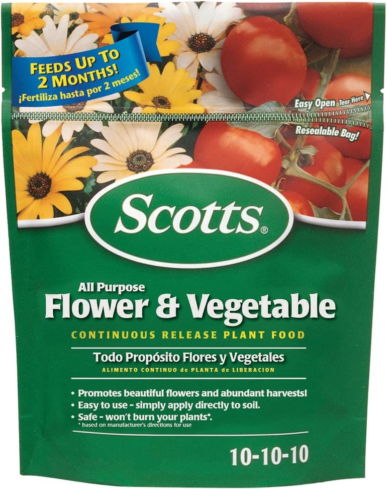 Scotts 1009001 All Purpose Flower and Vegetable Continuous Release Plant Food (6 Pack), 3 lb