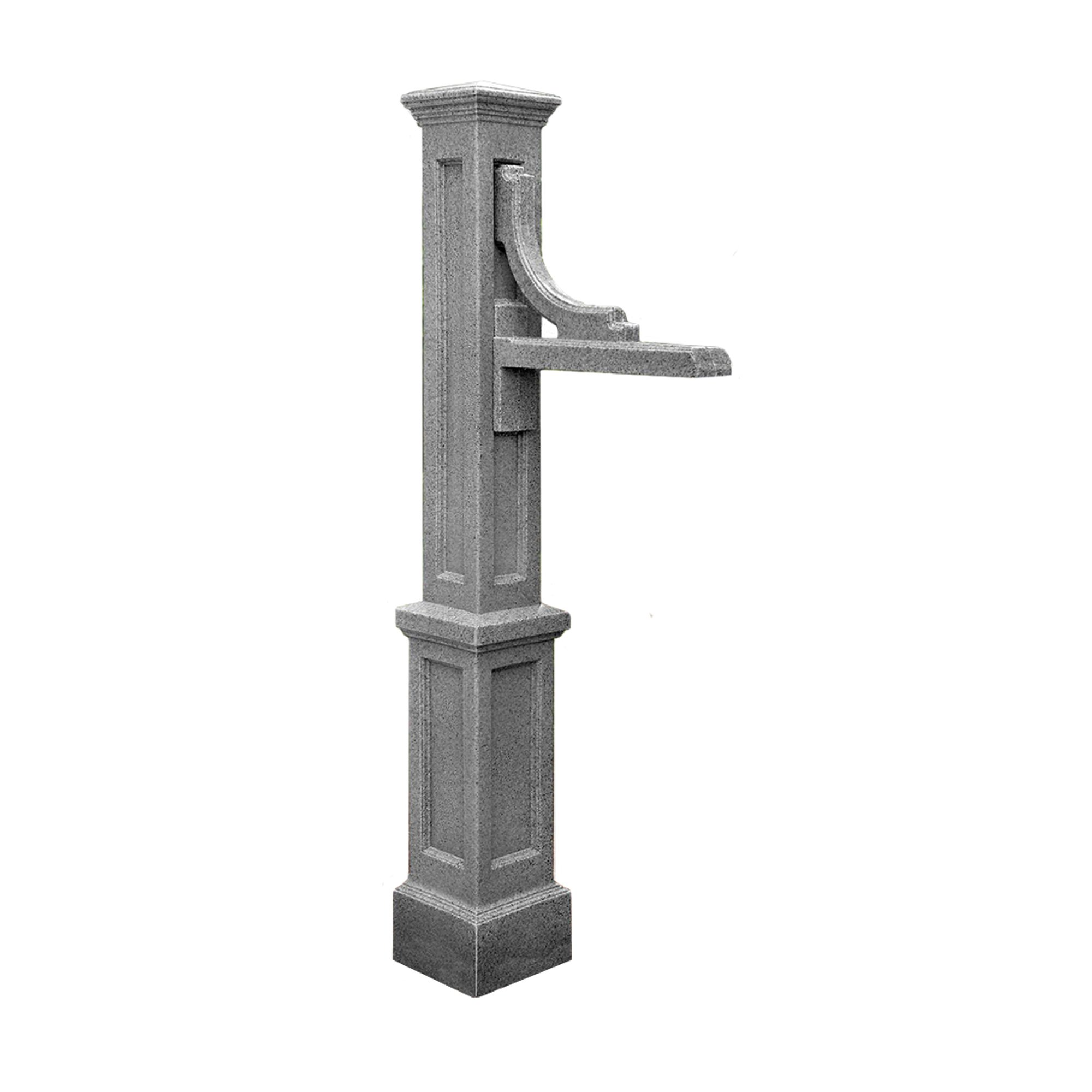 Mayne 5812-GG Woodhaven Address Sign Post, Granite