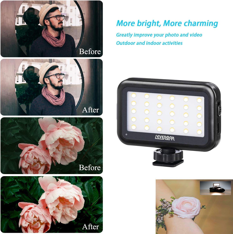 Portable LED Dimmable Lamp for Canon Nikon Camcorder DSLR Camera Smartphone Lighting Sevenoak Adjustable 30 LED Video Light