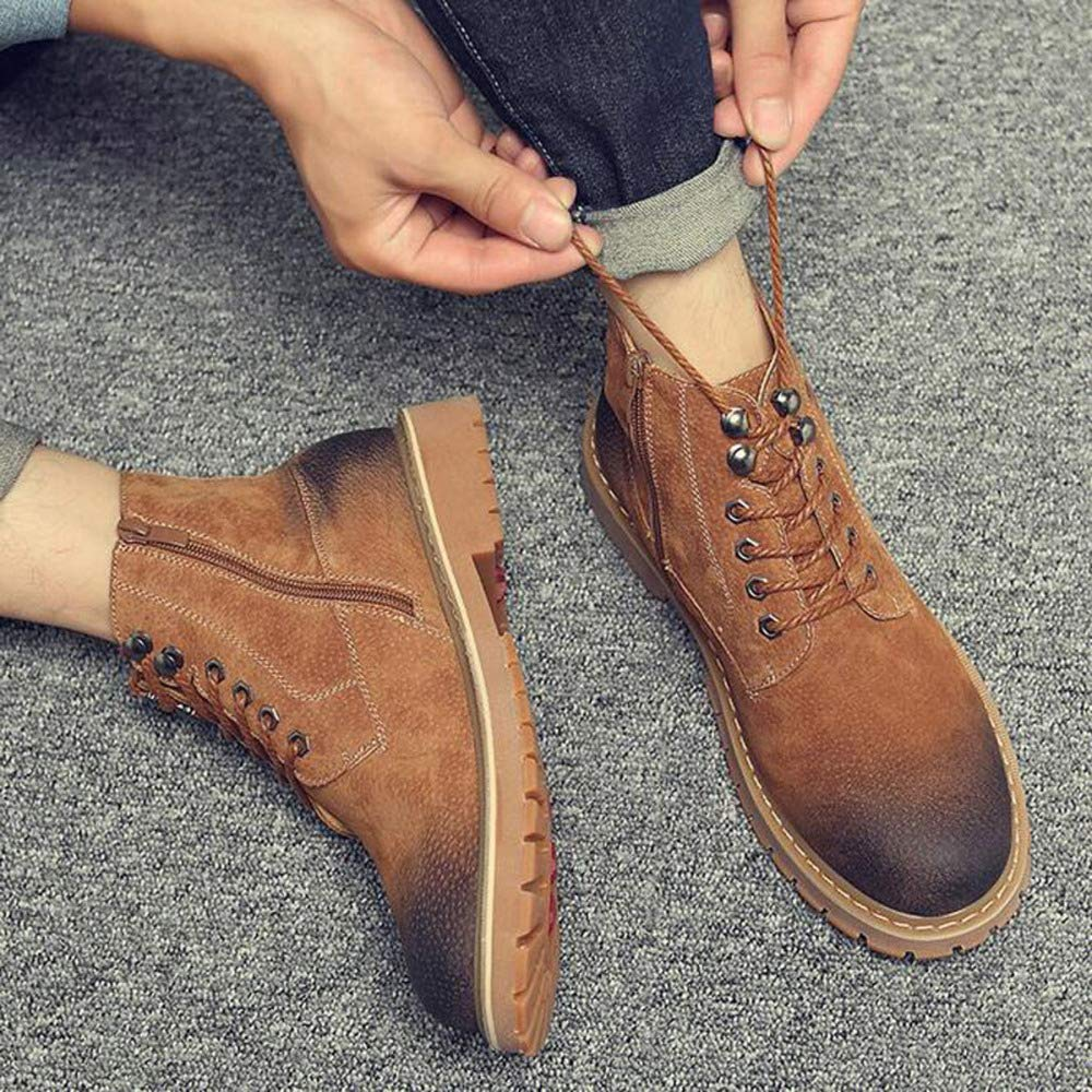JIAMIJ Herren Herren Herren Lederstiefel Oxford Schuhe Retro Formelle Arbeit Rutschfeste Verschleißfeste Casual Classic Schuhe,braun-Plusvelvet-40 8853d2