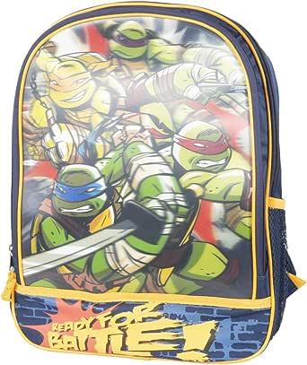 Amazon.com: Teenage Mutant Ninja Turtles 3-D Mochila listos ...