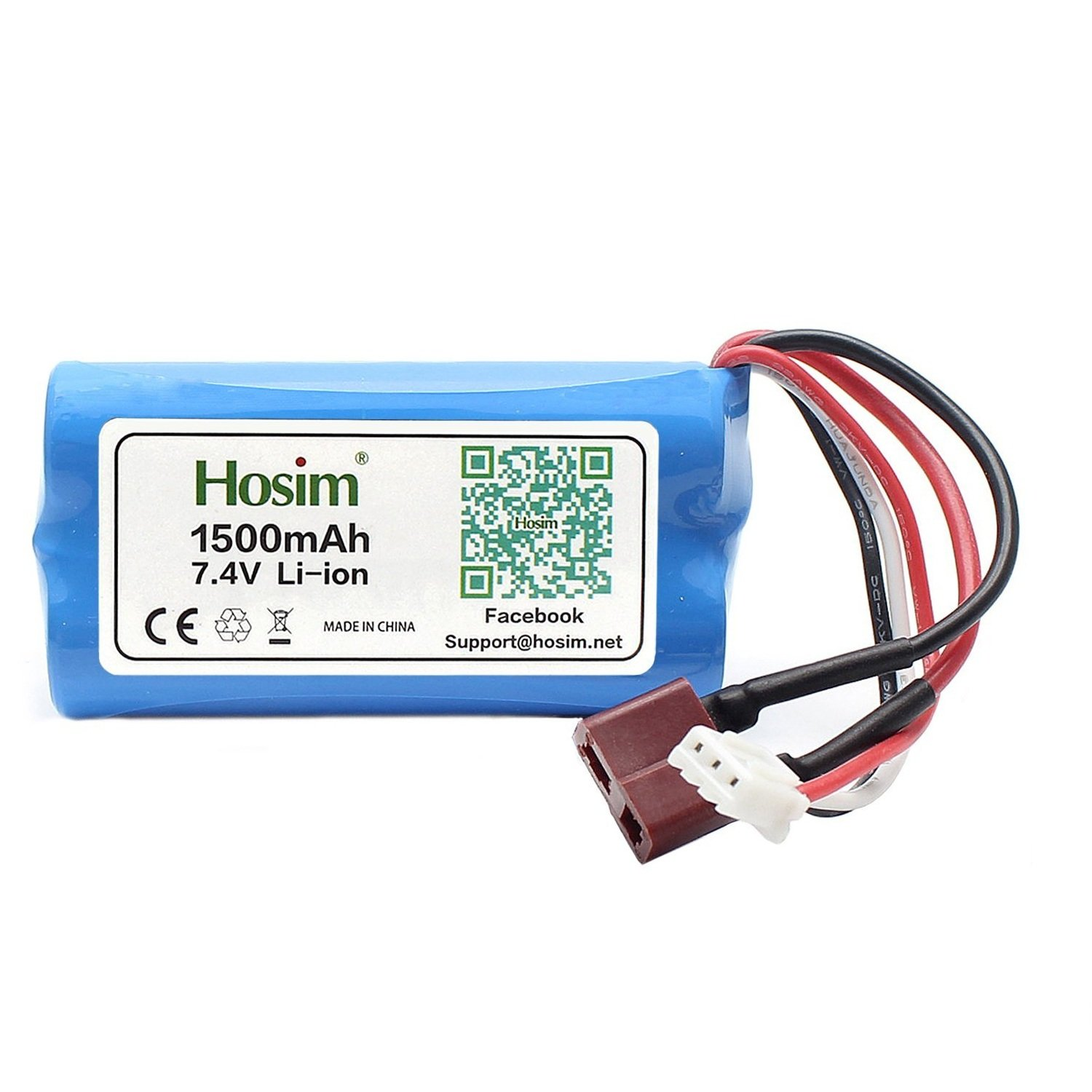 Hosim 74v 1500mah 15c Lithium Ion Rechargeable 18650 Battery Pack 2s Li E Controlled With T Connector For Rc Evader Bx Car Truck Truggy Airplane Uav Drone Fpv