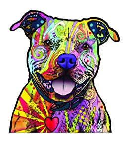 Enjoy It Dean Russo Pit Bull Car Sticker, Outdoor Rated Vinyl Sticker Decal for Windows, Bumpers, Laptops Or Crafts