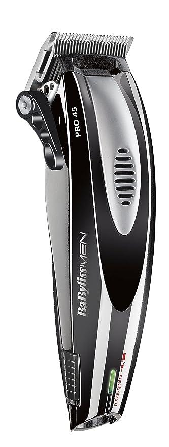BaBylissMen E956E - Cortapelos, cuchillas de acero inoxidable, 8 guías de corte, 0.6